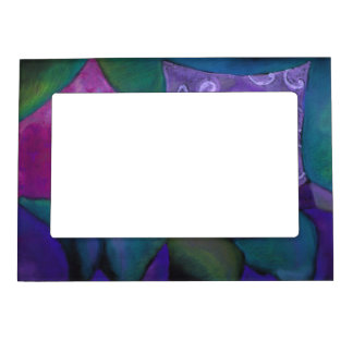 The Hideaway - Abstract Purple and Magenta Heaven Picture Frame Magnets
