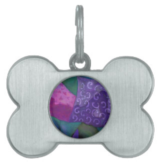 The Hideaway - Abstract Purple and Magenta Heaven Pet ID Tags