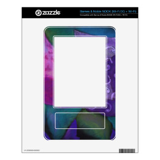 The Hideaway - Abstract Purple and Magenta Heaven Decal For NOOK