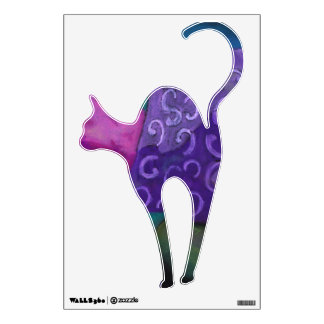 The Hideaway - Abstract Purple and Magenta Heaven Wall Decal