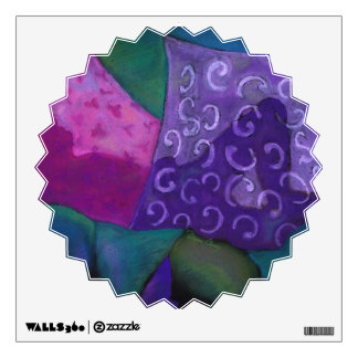 The Hideaway - Abstract Purple and Magenta Heaven Wall Sticker