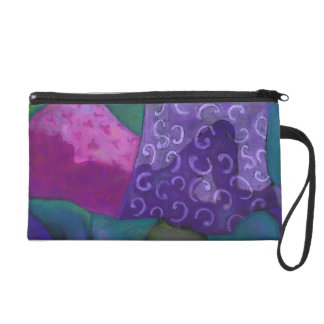 The Hideaway - Abstract Purple and Magenta Heaven Wristlet Purse
