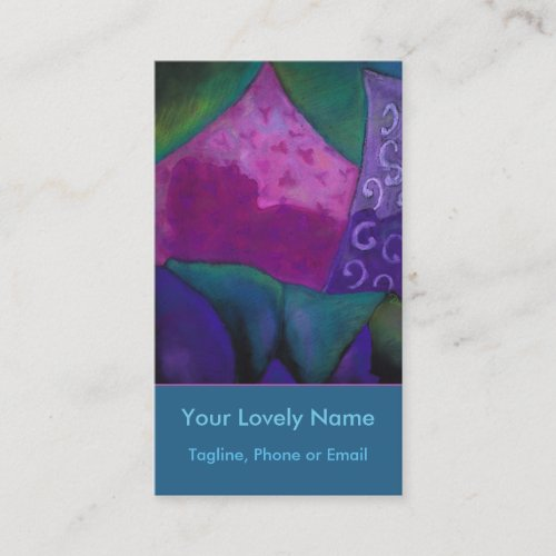 The Hideaway, Purple Pink Teal Heaven Business Card