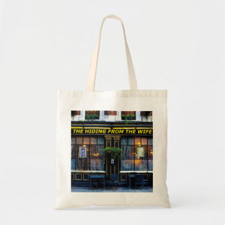 The hiding from the wife pub tote bag