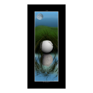 """The Hiding Place"" - Funny Golf Art Poster"
