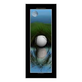 """THE HIDING PLACE"" Funny Golfer Sport Poster"