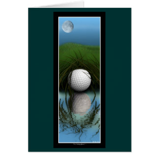 """THE HIDING PLACE"" Funny Golfer's Greeting Cards"