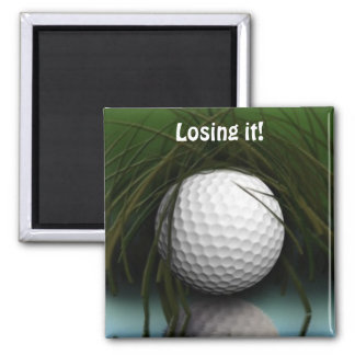 """""""THE HIDING PLACE"""" Funny Golfer's Magnet"""