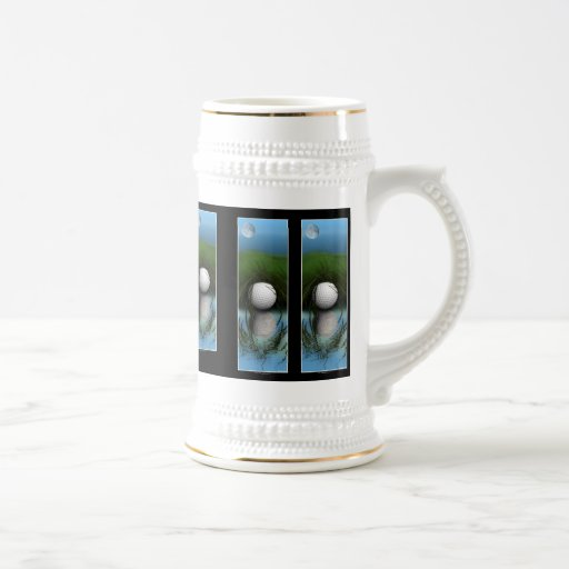 """""""THE HIDING PLACE"""" Funny Golfer's Stein Coffee Mugs"""