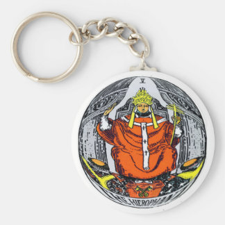 The Hierophant Tarot Card Keychain