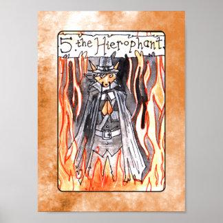 The Hierophant Tarot Card Poster