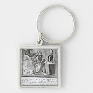 The High Church Champion, Pleading his own Silver-Colored Square Keychain