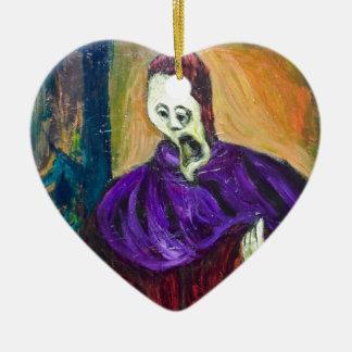 The High Priest (expressionism portrait) Ceramic Ornament