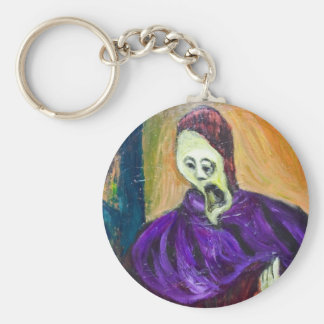 The High Priest (expressionism portrait) Keychain
