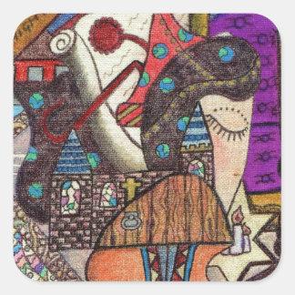 The High Priestess Tarot card by Kaye Talvilahti Square Sticker