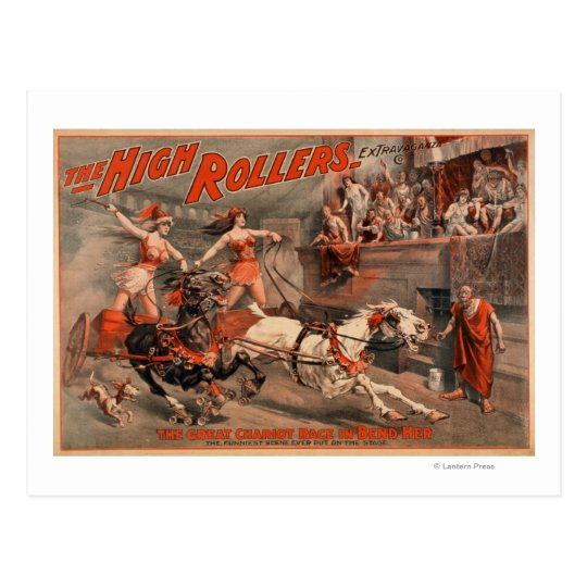 "The High Rollers - Ben Hur ""Bend Her"" Theatre Postcard"