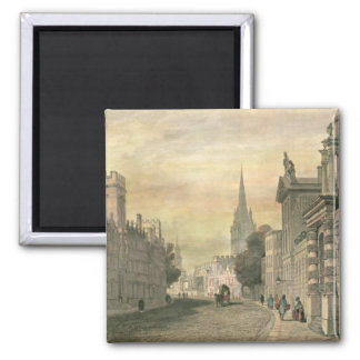The High Street, Oxford, engraved by G. Hollis 2 Inch Square Magnet