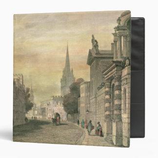 The High Street, Oxford, engraved by G. Hollis Binder