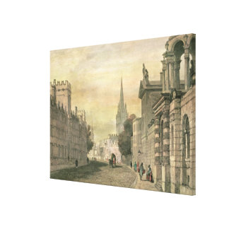The High Street, Oxford, engraved by G. Hollis Canvas Print