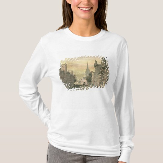 The High Street, Oxford, engraved by G. Hollis T-Shirt