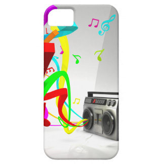 The High Vibe Music - Vintage Stereo White iPhone 5 Case