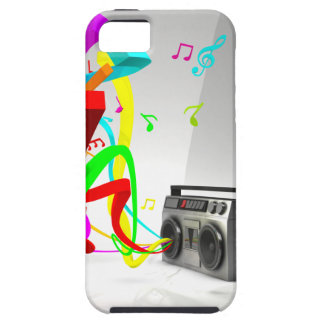 The High Vibe Music - Vintage Stereo White iPhone SE/5/5s Case