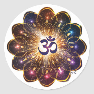 The higher power of Om Classic Round Sticker