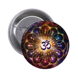 The higher power of Om Pinback Button