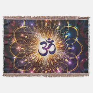 The higher power of Om Throw Blanket
