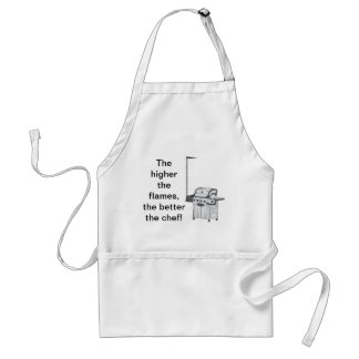 the higher the flames.. Mens BBQ apron