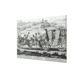 The Highland Chase, 21st February 1745 Canvas Print
