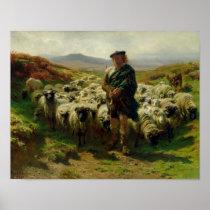 The Highland Shepherd, 1859 Poster
