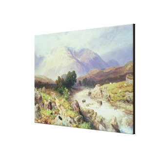 The Highlands, near Argyle (w/c on paper) Canvas Print