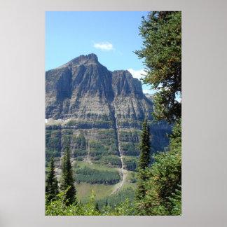 the Highline Trail - Glacier National Park Montana Poster