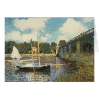 The Highway Bridge at Argenteuil by Claude Monet Card