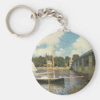 The Highway Bridge at Argenteuil by Claude Monet Keychain