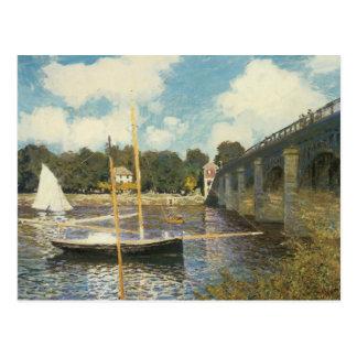 The Highway Bridge at Argenteuil by Claude Monet Postcard