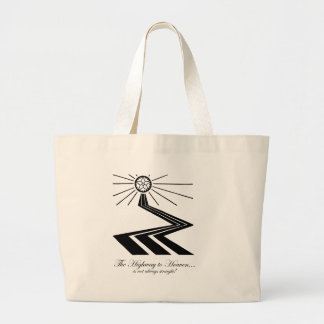 The Highway to Heaven is not always straight! Jumbo Tote Bag