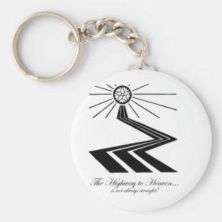 The Highway to Heaven is not always straight! Basic Round Button Keychain