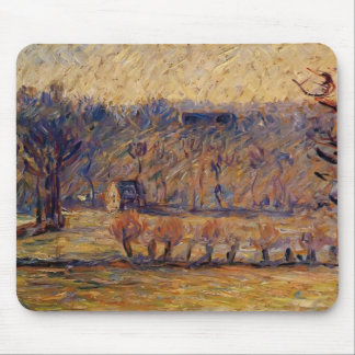 The Hill at Vaches, Bazincourt by Camille Pissarro Mouse Pad