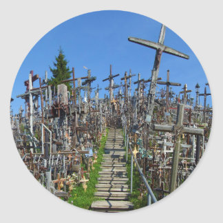 The Hill of Crosses of Northern Lithuania Classic Round Sticker