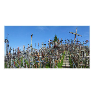 The Hill of Crosses of Northern Lithuania Customized Photo Card