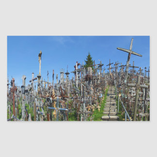 The Hill of Crosses of Northern Lithuania Rectangular Sticker