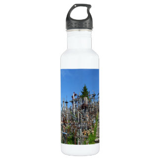 The Hill of Crosses of Northern Lithuania Stainless Steel Water Bottle