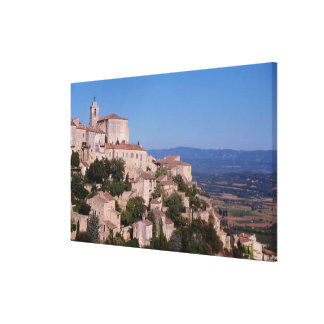 The hill top village of Gordes Canvas Print