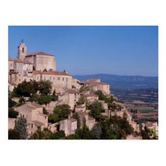 The hill top village of Gordes Postcard