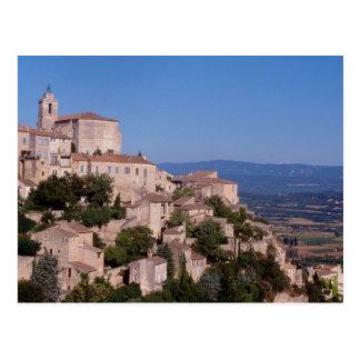 The hill top village of Gordes Postcard