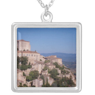 The hill top village of Gordes Silver Plated Necklace