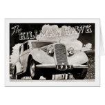 The Hillman Hawk 1937 Greeting Card