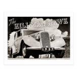 The Hillman Hawk 1937 Postcard